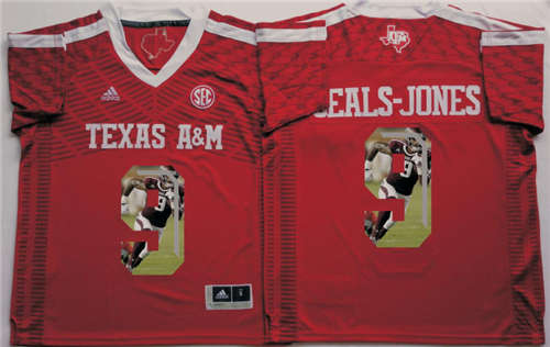 Texas A&M Aggies #9 Ricky Seals Jones Red Portrait Number NCAA College Football Jersey