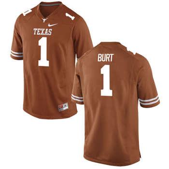Texas Longhorns #1 John Burt Orange  College Football Jersey