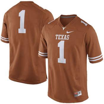 Texas Longhorns #1 Orange  College Football Jersey