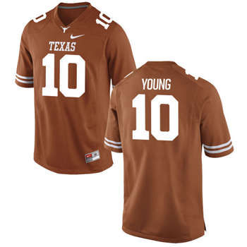 Texas Longhorns #10 Vince Young Orange  College Football Jersey