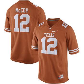 Texas Longhorns #12 Colt McCoy Orange  College Football Jersey