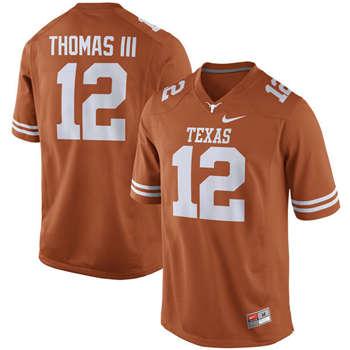 Texas Longhorns #12 Earl Thomas III Orange  College Football Jersey