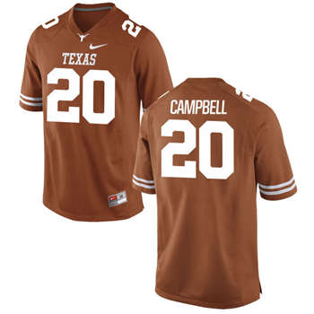Texas Longhorns #20 Earl Campbell Orange  College Football Jersey