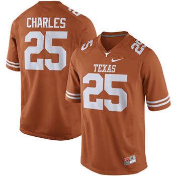 Texas Longhorns #25 Jamaal Charles Orange  College Football Jersey