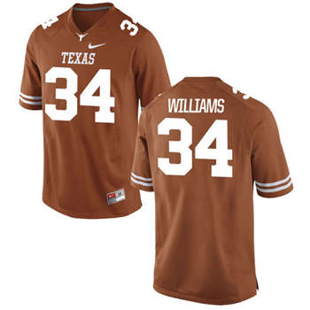 Texas Longhorns #34 Ricky Williams Orange  College Football Jersey