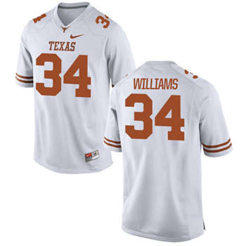 Texas Longhorns #34 Ricky Williams White  College Football Jersey