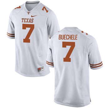 Texas Longhorns #7 Shane Buechele White  College Football Jersey