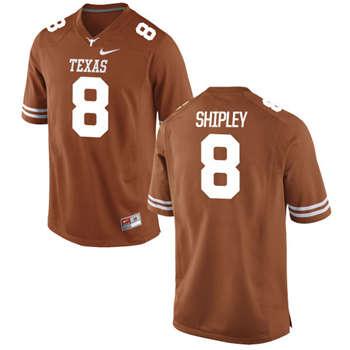 Texas Longhorns #8 Jordan Shipley Orange  College Football Jersey
