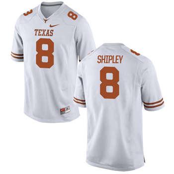 Texas Longhorns #8 Jordan Shipley White  College Football Jersey