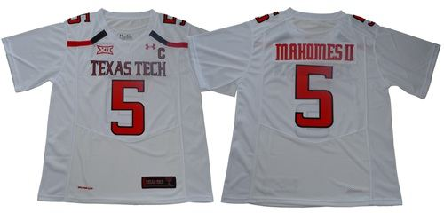 Texas Tech Red Raiders #5 Patrick Mahomes White Limited Stitched College Football Jersey