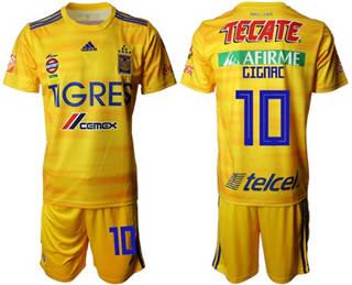 Tigres #10 Gignac Home Soccer Club Jersey