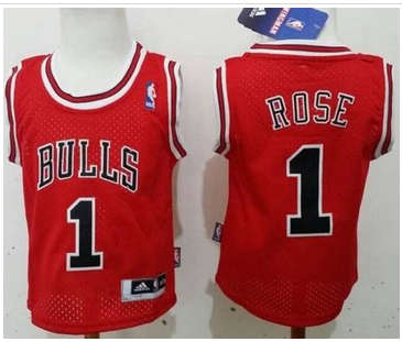 Toddler Chicago Bulls #1 Derrick Rose Red Stitched Basketball Jersey