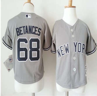 Toddler New York Yankees #68 Dellin Betances Grey Cool Base Stitched Baseball Jersey