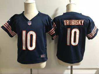 Toddler  Bears #10 Mitchell Trubisky Navy Blue Stitched Football Infant Jersey