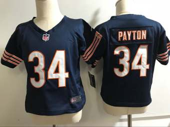 Toddler  Bears #34 Walter Payton Navy Blue Stitched Football Infant Jersey