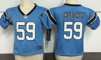 Toddler  Panthers #59 Luke Kuechly Blue Stitched Football Infant Jersey
