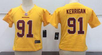 Toddler  Redskins #91 Ryan Kerrigan Gold Stitched Football Infant Jersey