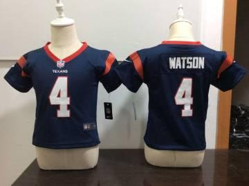 Toddler  Texans #4 Deshaun Watson Navy Blue Stitched Football Infant Jersey