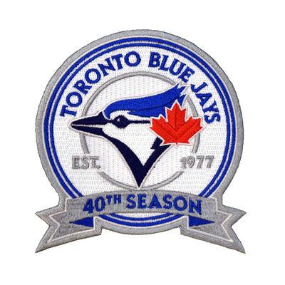 Toronto Blue Jays 40th Anniversary Patch