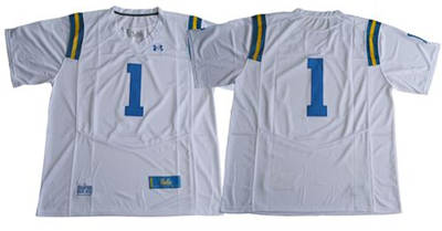 UCLA Bruins #1 White Under Armour Premier Stitched NCAA Jersey