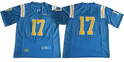 UCLA Bruins #17 Blue Under Armour Premier Stitched NCAA Jersey