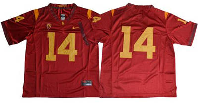 USC Trojans #14 Sam Darnold Red Limited Stitched NCAA Jersey