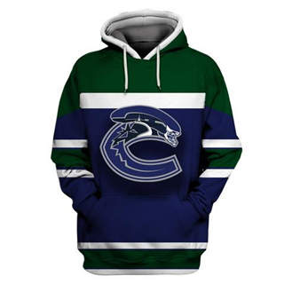 Vancouver Canucks Blue All Stitched Hooded Sweatshirt
