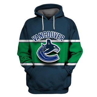 Vancouver Canucks Navy All Stitched Hooded Sweatshirt