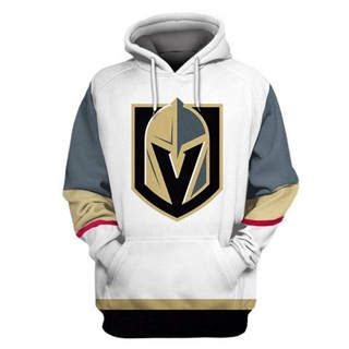Vegas Golden Knights White All Stitched Hooded Sweatshirt