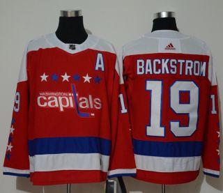 Washington Capitals 19 Nicklas Backstrom Red Alternate  Jersey