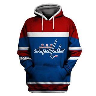 Washington Capitals Blue All Stitched Hooded Sweatshirt