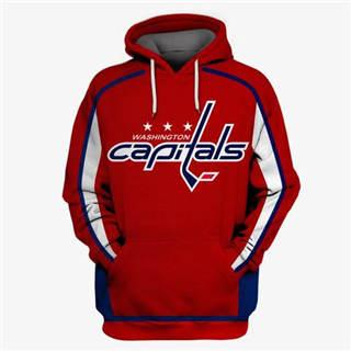Washington Capitals Red All Stitched Hooded Sweatshirt