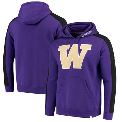 Washington Huskies Iconic Colorblocked Fleece Pullover Hoodie - Purple