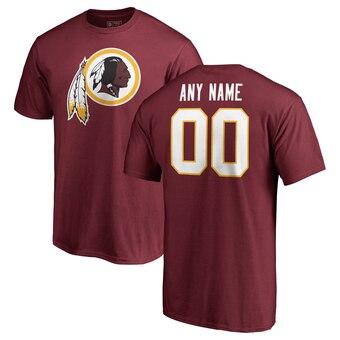 Washington Redskins Pro Line Any Name & Number Logo Personalized T-Shirt - Burgundy