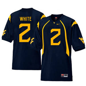 West Virginia Mountaineers 2 Ka'Raun White Navy College Football Jersey