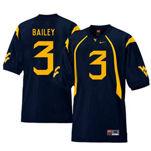 West Virginia Mountaineers 3 Stedman Bailey Navy College Football Jersey