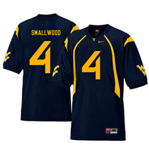 West Virginia Mountaineers 4 Wendell Smallwood Navy College Football Jersey