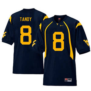West Virginia Mountaineers 8 Keith Tandy Navy College Football Jersey