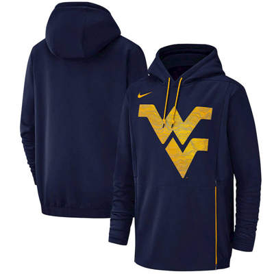 West Virginia Mountaineers Champ Drive Performance Pullover Hoodie – Navy