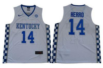 Wildcats #14 Tyler Herro White Elite Stitched College Basketball Jersey