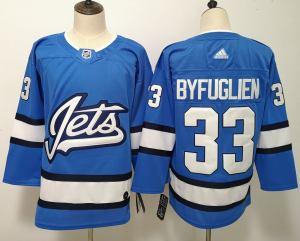 Winnipeg Jets 33 Dustin Byfuglien Blue Alternate  Jersey
