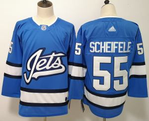 Winnipeg Jets 55 Mark Scheifele Blue Alternate  Jersey