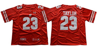 Wisconsin Badgers #23 Jonathan Taylor Red Under Armour Stitched NCAA Jersey