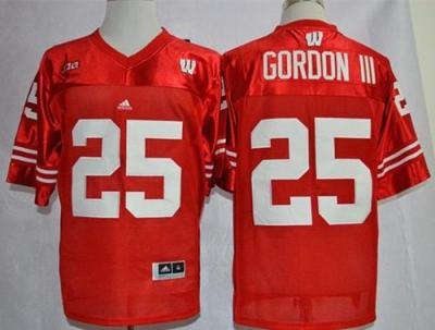 Wisconsin Badgers #25 Melvin Gordon III Red Big Ten Stitched College Jersey