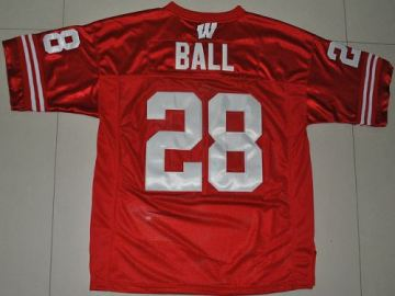 Wisconsin Badgers #28 Montee Ball Red Stitched College Jersey