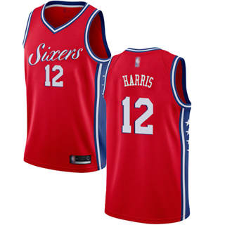 Women's 76ers #12 Tobias Harris Red Basketball Swingman Statement Edition Jersey