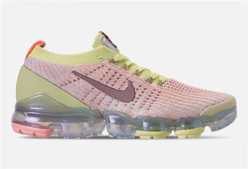 Women's Air VaporMax Flyknit 3.0 Shoes Barely Volt Diffused Taupe-Pink Tint AJ6910-700