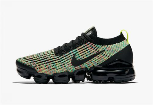 Women's Air VaporMax Flyknit 3.0 Shoes Black Black Volt AJ6910-004