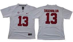 Women's Alabama Crimson Tide #13 Tua Tagovailoa White Limited Stitched NCAA Jersey