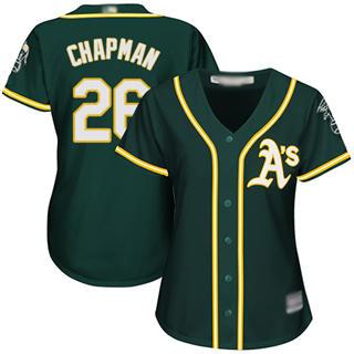 Women's Athletics #26 Matt Chapman Green Alternate Stitched Baseball Jersey